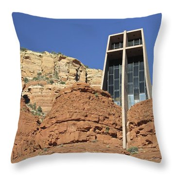 Throw Pillow featuring the photograph Chapel Of The Holy Cross by Penny Meyers