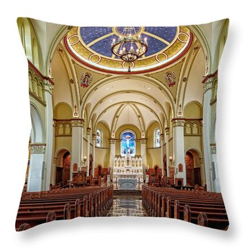 Throw Pillow featuring the photograph Chapel Of The Immaculate Conception by Jim Thompson