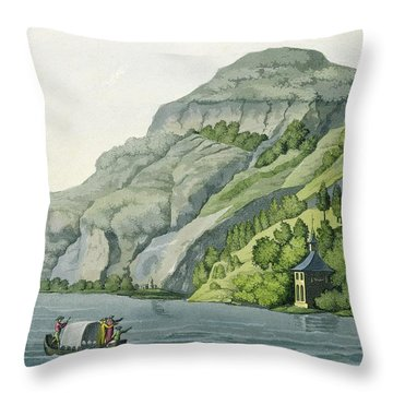 Chapel Of William Tell, From Customs Throw Pillow by Vittorio Raineri