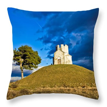 Chapel On Green Hill Nin Dalmatia Throw Pillow by Brch Photography