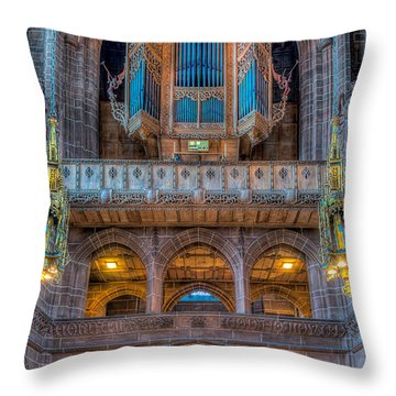 Chapel Organ Throw Pillow