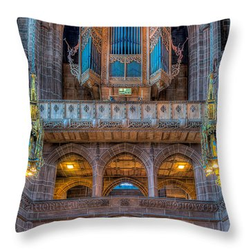 Throw Pillow featuring the photograph Chapel Organ by Adrian Evans