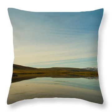 Chapman Lake Dempster Highway Throw Pillow by Priska Wettstein
