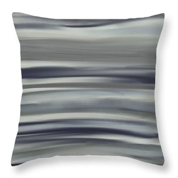 Charcoal And Blue Throw Pillow