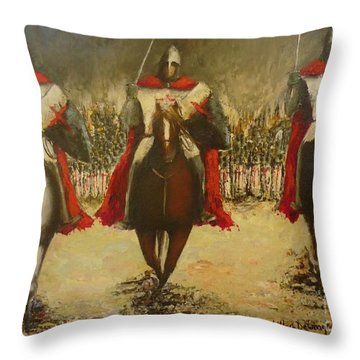 Charge To Battle Throw Pillow