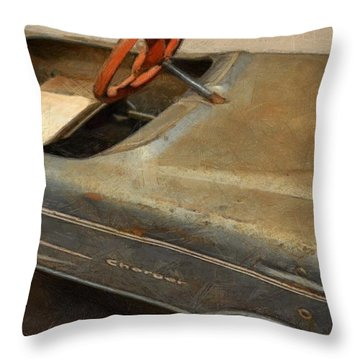 Charger Pedal Car Throw Pillow by Michelle Calkins