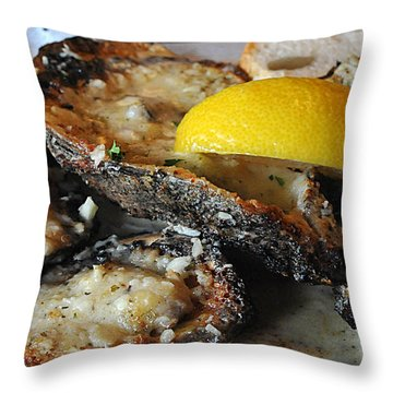 Chargrilled Oysters Throw Pillow by Steve Archbold