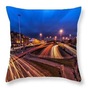 Charing Cross Glasgow Throw Pillow by John Farnan