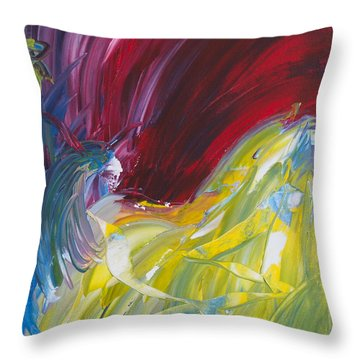Chariot Through Hell Throw Pillow