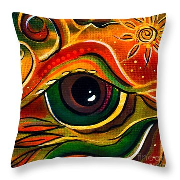 Throw Pillow featuring the painting Charismatic Spirit Eye by Deborha Kerr