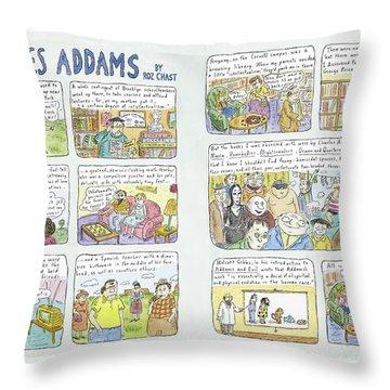 Charles Addams Throw Pillow