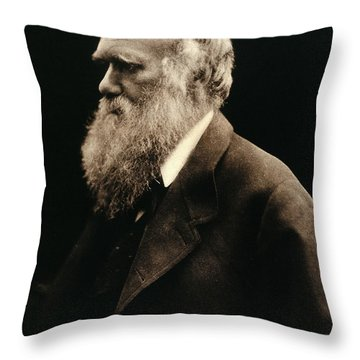 Charles Darwin By Julia Margaret Throw Pillow by Wellcome Images