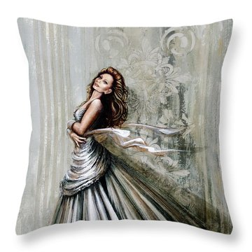 Swan Gown Throw Pillow