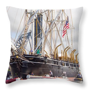 Charles W. Morgan 38th Voyage Throw Pillow