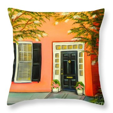 Throw Pillow featuring the painting Charleston Charm by Shelia Kempf