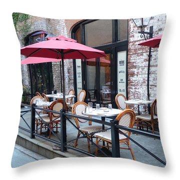 Charleston French Cafe Bistro - Rue De Jean French Restaurant Cafe Bistro Charleston South Carolina Throw Pillow