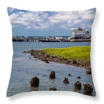 Throw Pillow featuring the photograph Charleston Harbor by Sennie Pierson