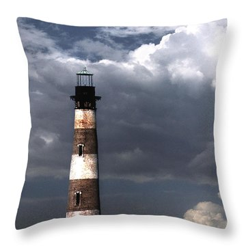 Charleston Lights Throw Pillow