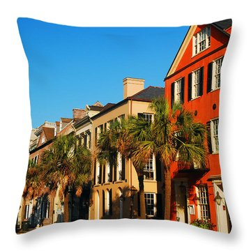 Charleston Painted Row Throw Pillow