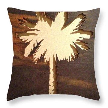 Charleston Palmetto Throw Pillow