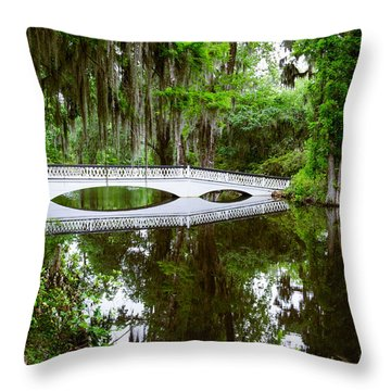 Charleston Sc Bridge Throw Pillow