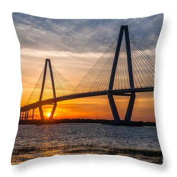 Charleston Sun Setting  Throw Pillow