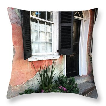 Charleston Welcome Throw Pillow by John Rizzuto
