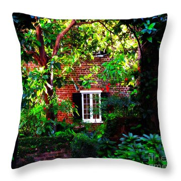 Charleston's Charm And Hidden Gems  Throw Pillow by Susanne Van Hulst