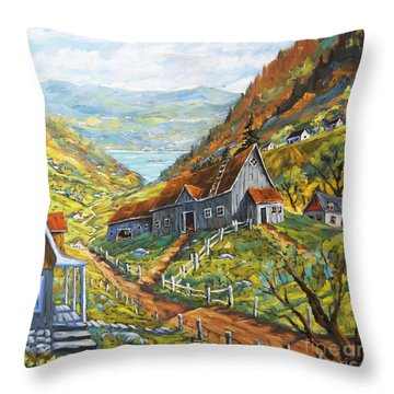 Charlevoix Valley By Prankearts Throw Pillow by Richard T Pranke