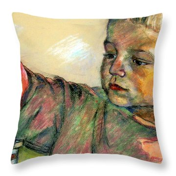 Charlie Throw Pillow by Stan Esson