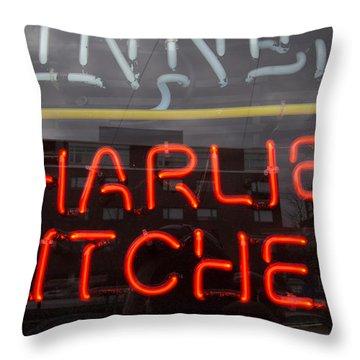 Charlies Kitchen Throw Pillow