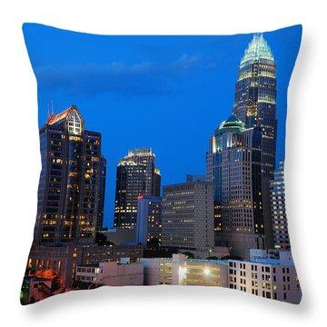 Charlotte At Night Throw Pillow by James Kirkikis