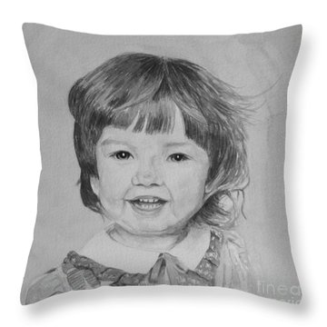 Charlotte B/w Throw Pillow by Martin Howard