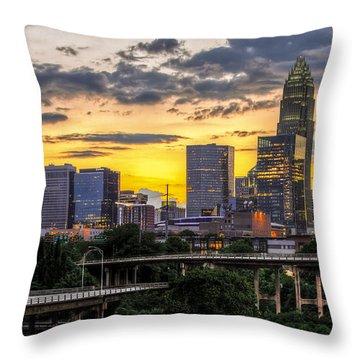 Charlotte Dusk Throw Pillow