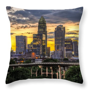 Charlotte Dusk Throw Pillow by Chris Austin