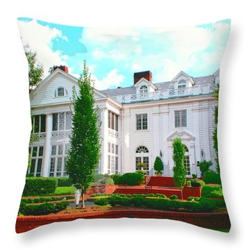 Charlotte Estate Charlotte Nc Throw Pillow by William Dey