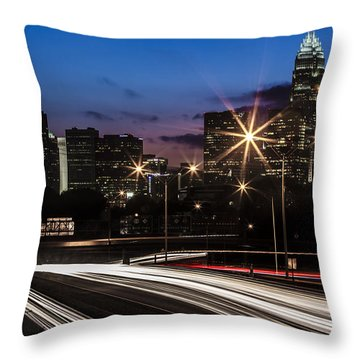 Charlotte Flow Throw Pillow by Chris Austin