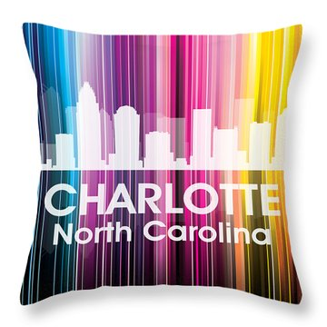 Charlotte Nc 2 Throw Pillow by Angelina Vick