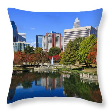 Charlotte North Carolina Marshall Park Throw Pillow