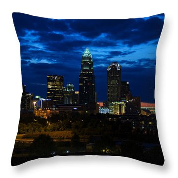 Charlotte North Carolina Panoramic Image Throw Pillow