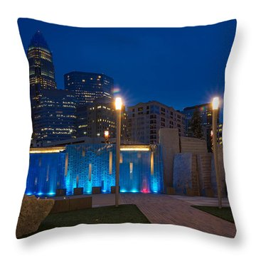 Charlotte Skyline 3 Throw Pillow by Serge Skiba