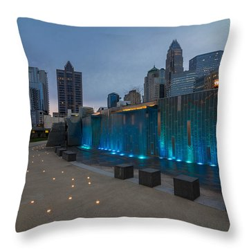 Charlotte Skyline 4 Throw Pillow by Serge Skiba