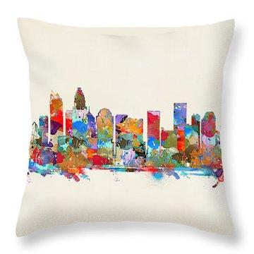 Charlotte Skyline North Carolina Throw Pillow
