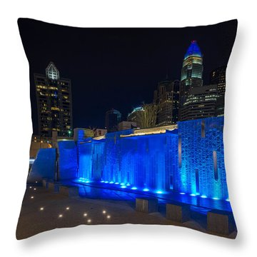 Charlotte Skyline Throw Pillow by Serge Skiba