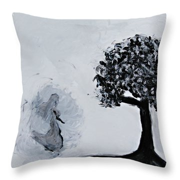 Charlotte's Grave Throw Pillow