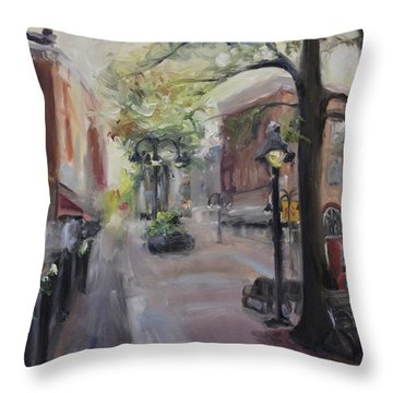 Charlottesville's Historic Downtown Mall Throw Pillow