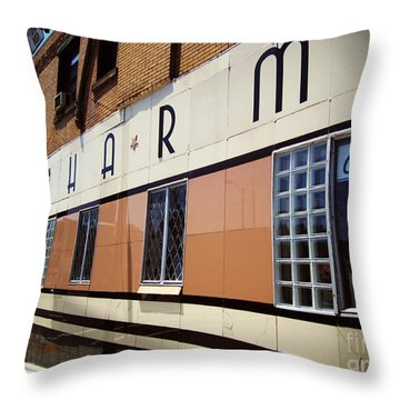 Charm Beauty Shop Pittsburgh Throw Pillow