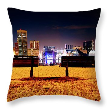 Charm City View Throw Pillow