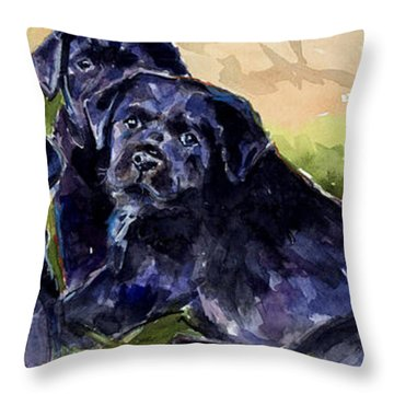 Charm School Throw Pillow by Molly Poole