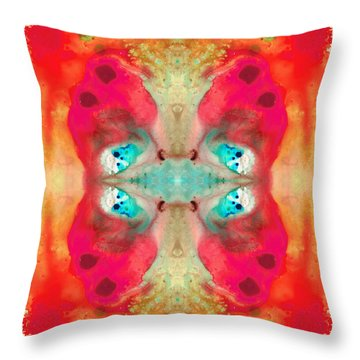 Charmed - Abstract Art By Sharon Cummings Throw Pillow